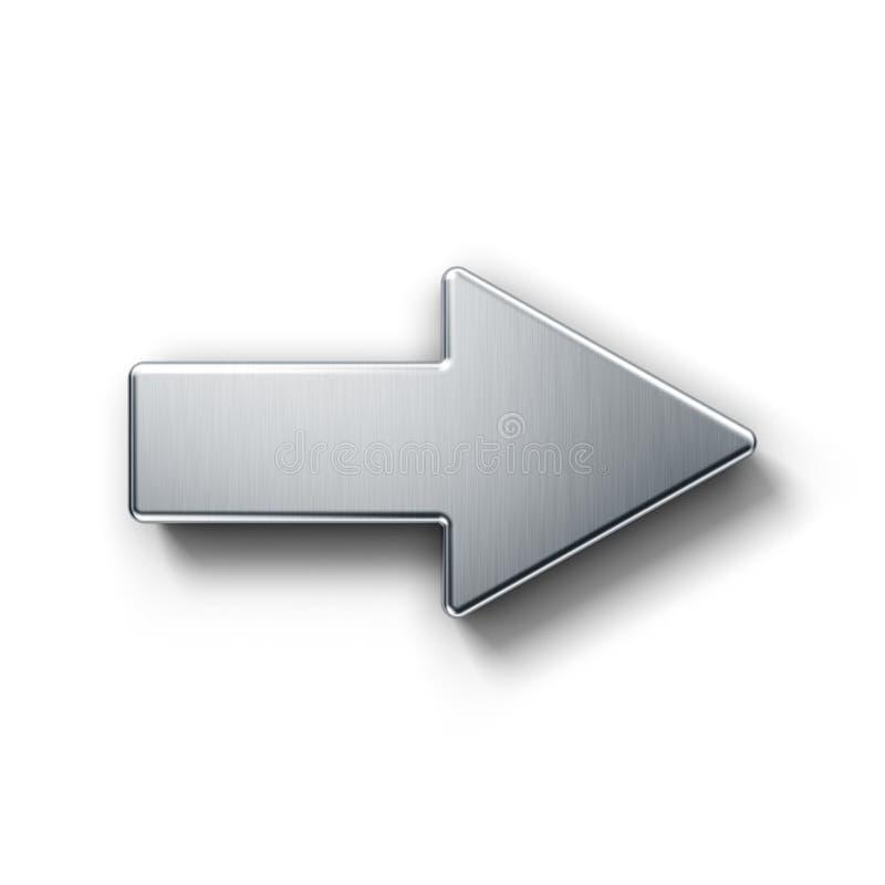 Flecha que señala a la derecha ilustración del vector