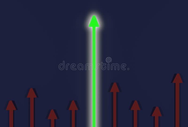 Flecha que sube arriba stock de ilustración