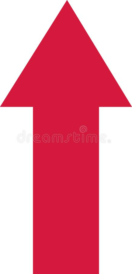 Flecha Ascendente Roja Ilustraciones Stock, Vectores, Y Clipart ...