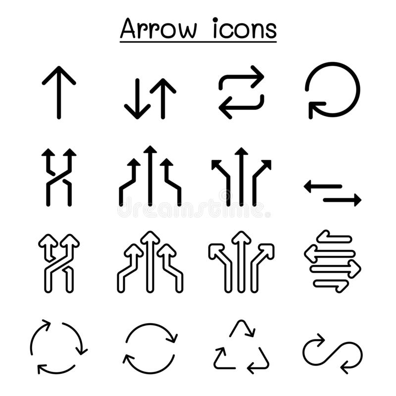 Flecha, rotación, lazo, circular, intercambio, diseño gráfico del ejemplo del vector del sistema del icono de la transición stock de ilustración