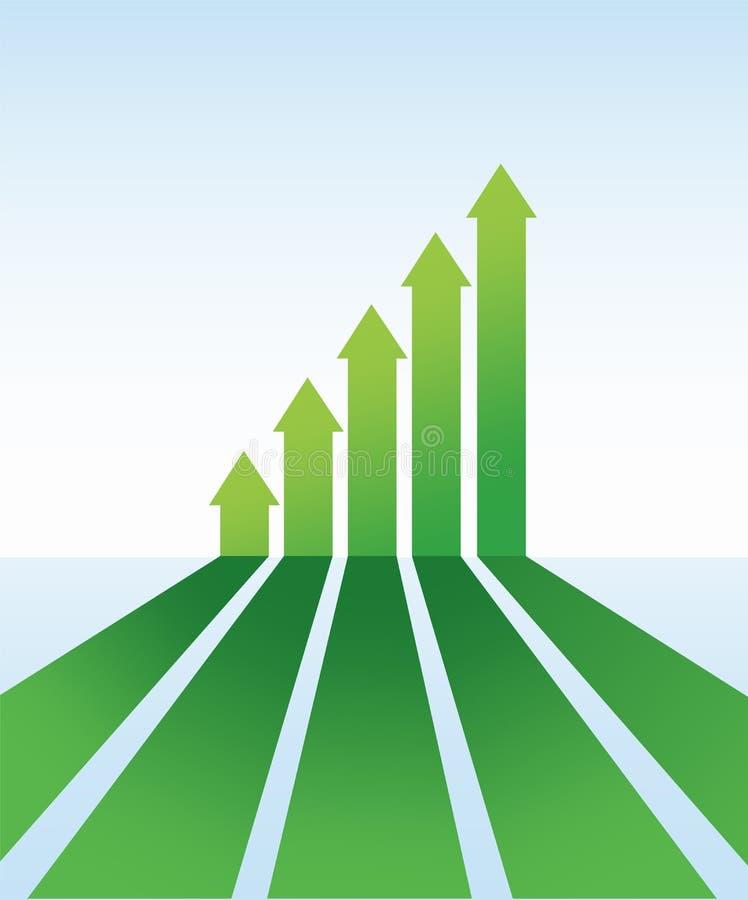 Flecha verde stock de ilustración