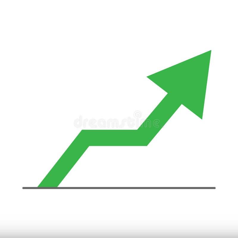 Flecha verde Ilustración del vector Icono del Web ilustración del vector