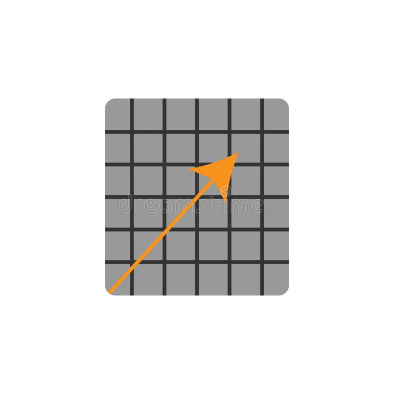 Flecha y abajo icono Elemento de financiero, de diagramas y del icono de los informes para el concepto móvil y los apps de la web ilustración del vector