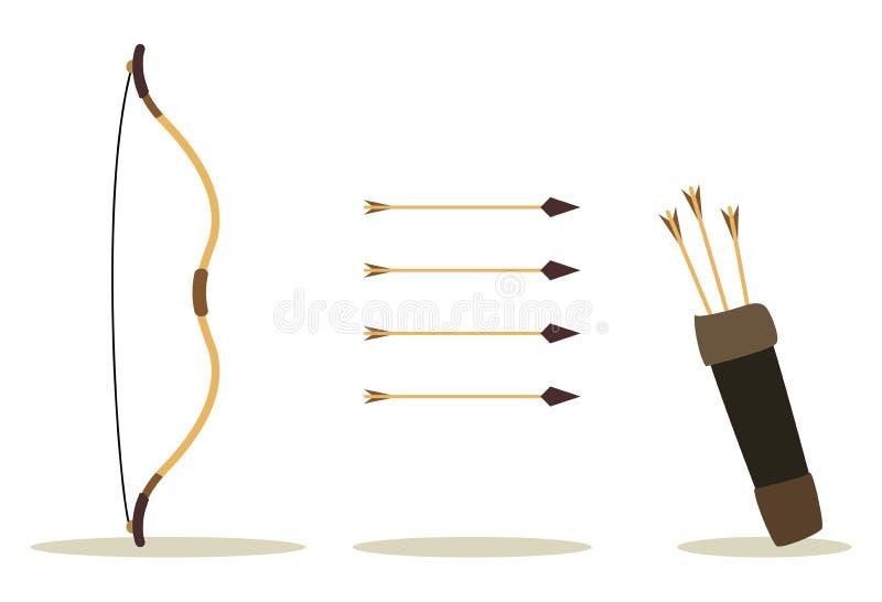 Flecha y caso del arqueamiento ilustración del vector