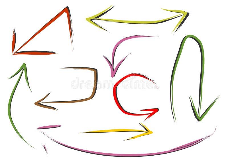 Download Flechas ilustración del vector. Ilustración de dirección - 41901835
