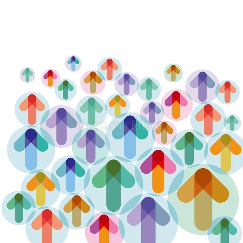 Flechas ascendentes coloridas ilustración del vector