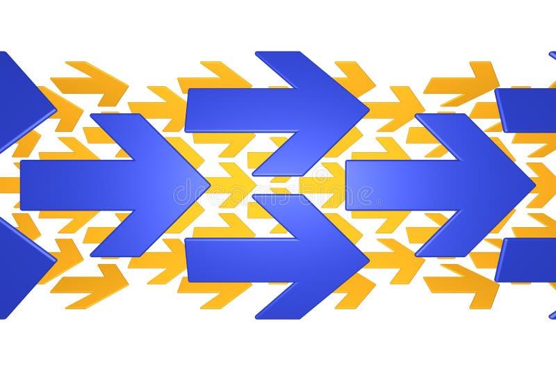 Flechas azules y anaranjadas libre illustration