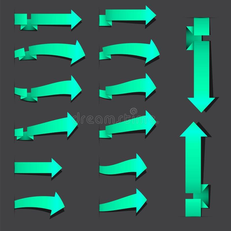 Flechas azulverdes de la señal libre illustration