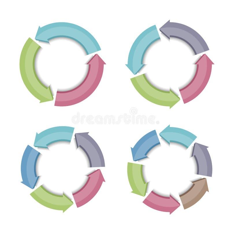 Flechas circulares libre illustration