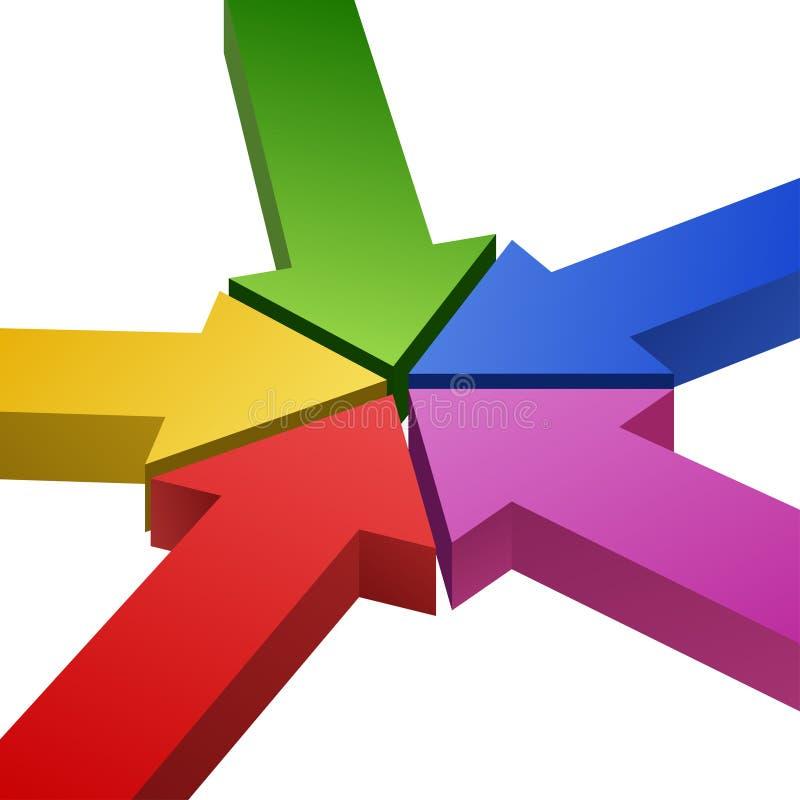 Flechas coloreadas stock de ilustración