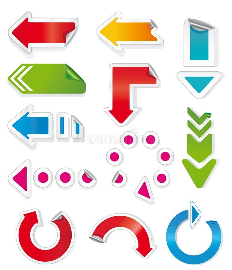 Flechas coloridas. stock de ilustración