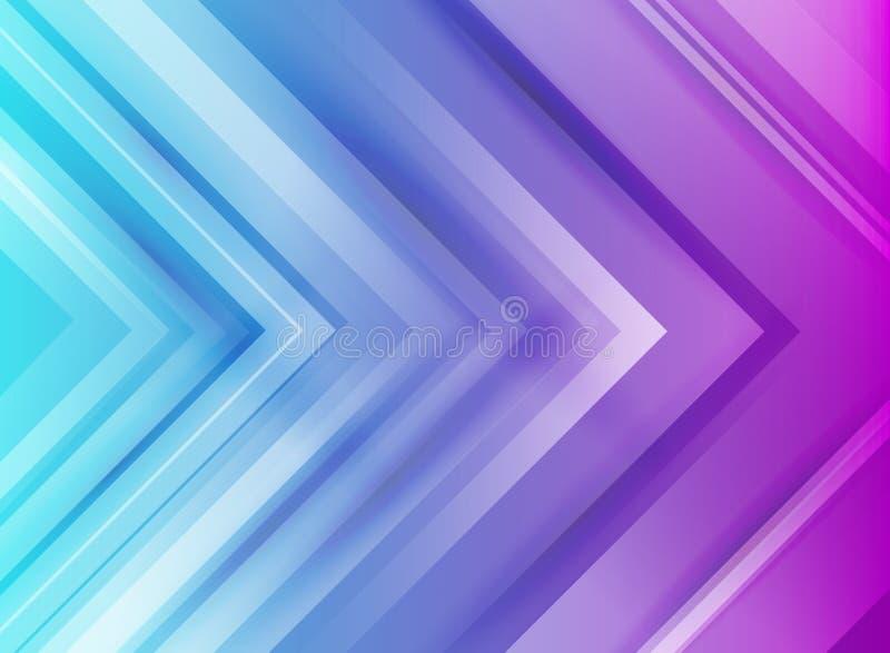 Flechas corporativas de la tecnología del extracto azules y fondo púrpura de las pendientes libre illustration