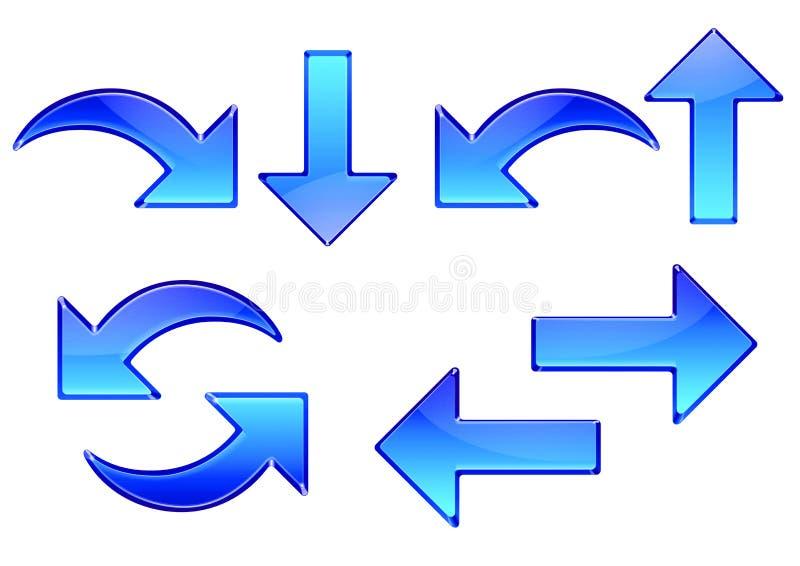 Flechas de cristal ilustración del vector