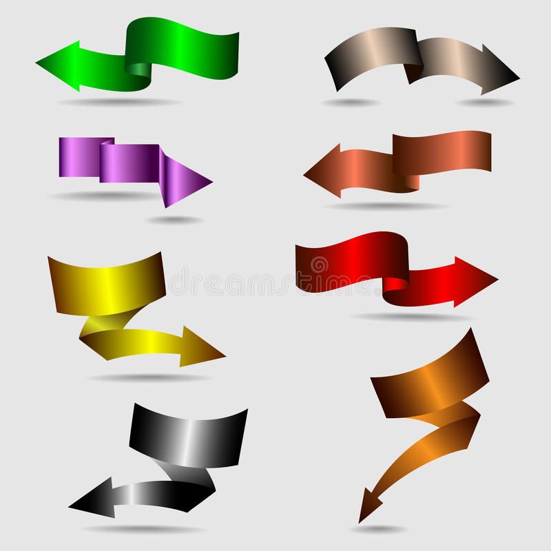 Flechas de la cinta libre illustration