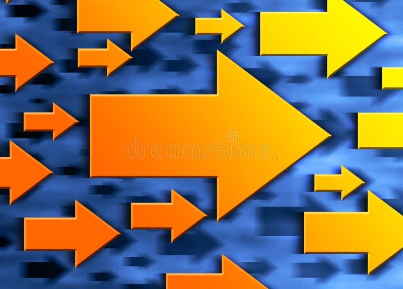 Flechas de la dirección stock de ilustración