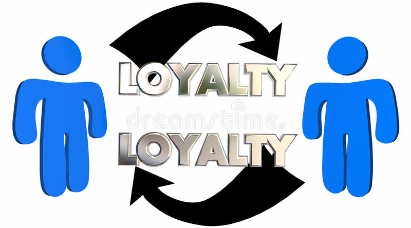 Flechas de la gente de la relación del empleado del cliente de la lealtad ilustración del vector