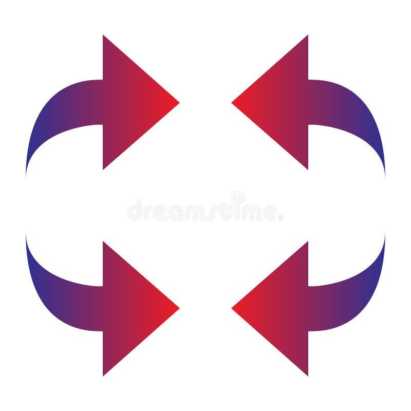 Flechas de la pendiente Vector aislado en BG blanca libre illustration