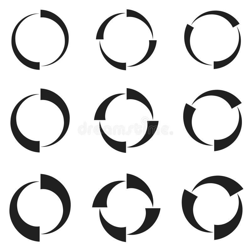 Flechas de la recarga stock de ilustración