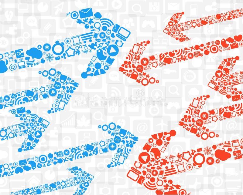 Flechas de los media del color libre illustration