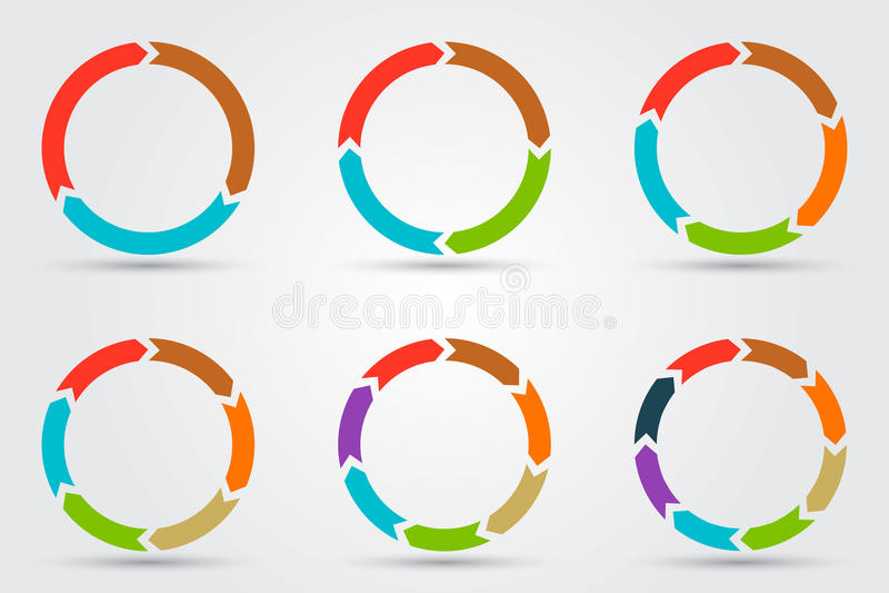 Flechas del círculo del vector para infographic libre illustration