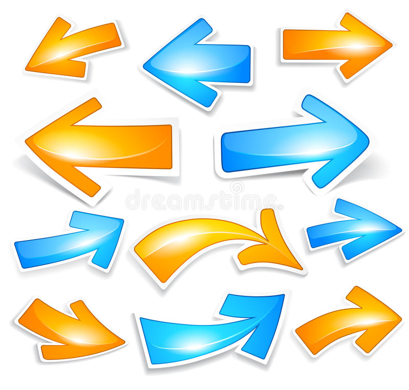 Flechas del color ilustración del vector