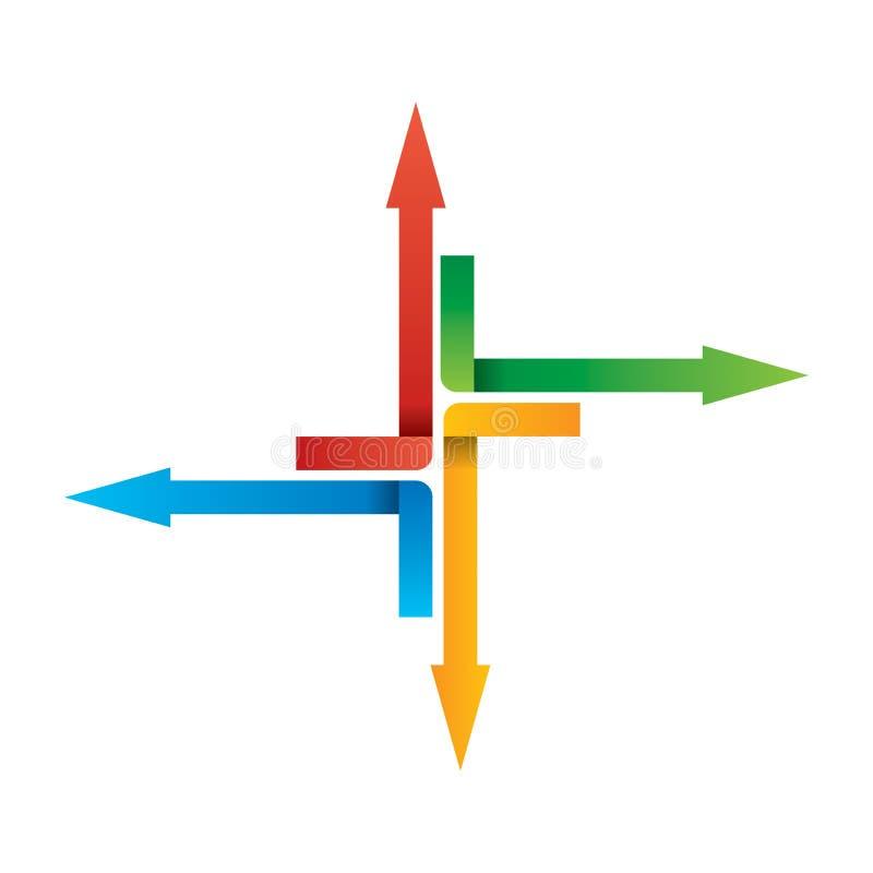 Flechas del color - illustation abstracto stock de ilustración