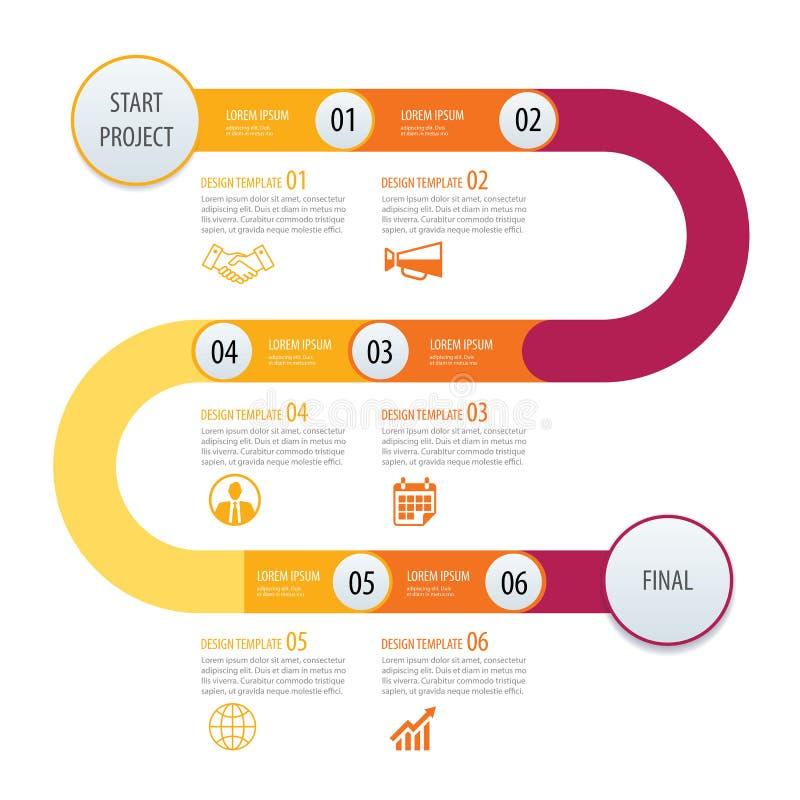 Flechas del concepto del negocio de la plantilla de la cronología de Infographic Vector Ca libre illustration