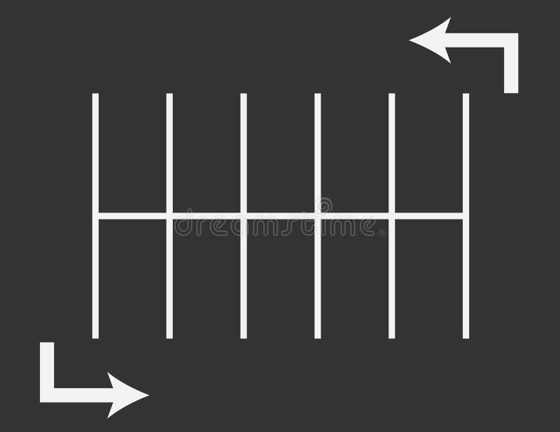Flechas del estacionamiento ilustración del vector
