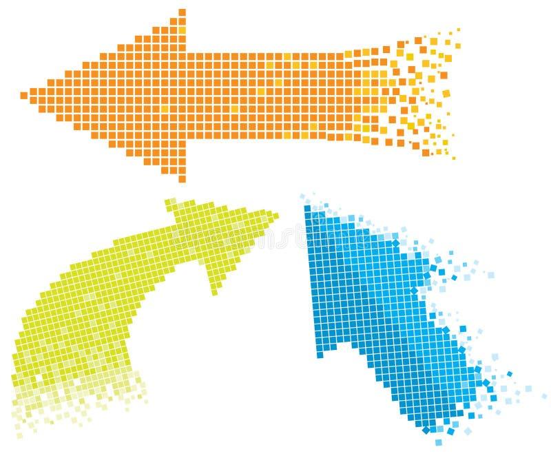 Flechas del mosaico ilustración del vector