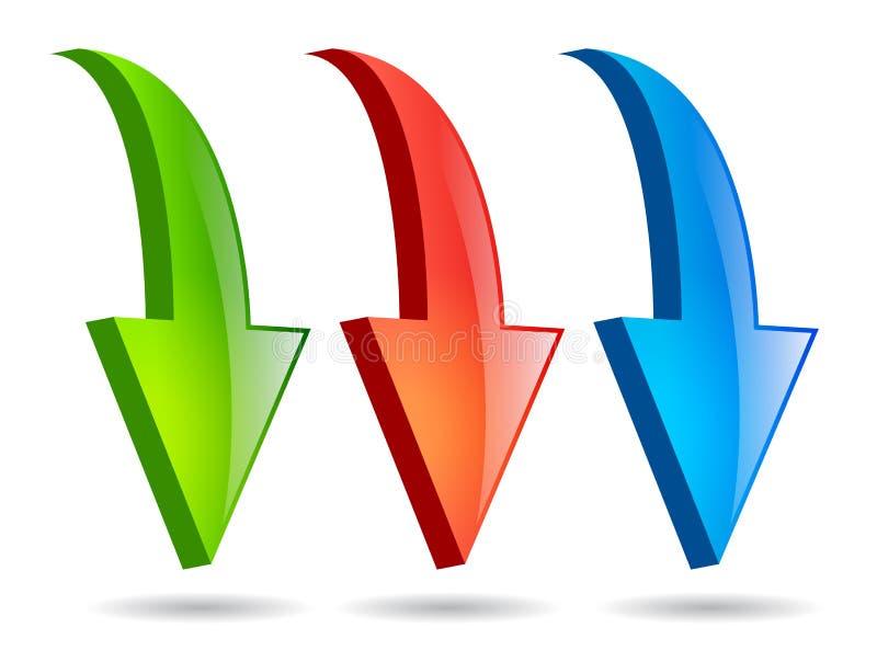 Flechas del vector libre illustration