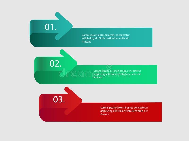 Flechas del vector para infographic Plantilla para el diagrama, el gráfico, la presentación y la carta stock de ilustración