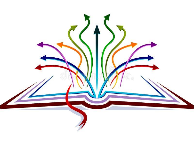 Flechas en el libro stock de ilustración