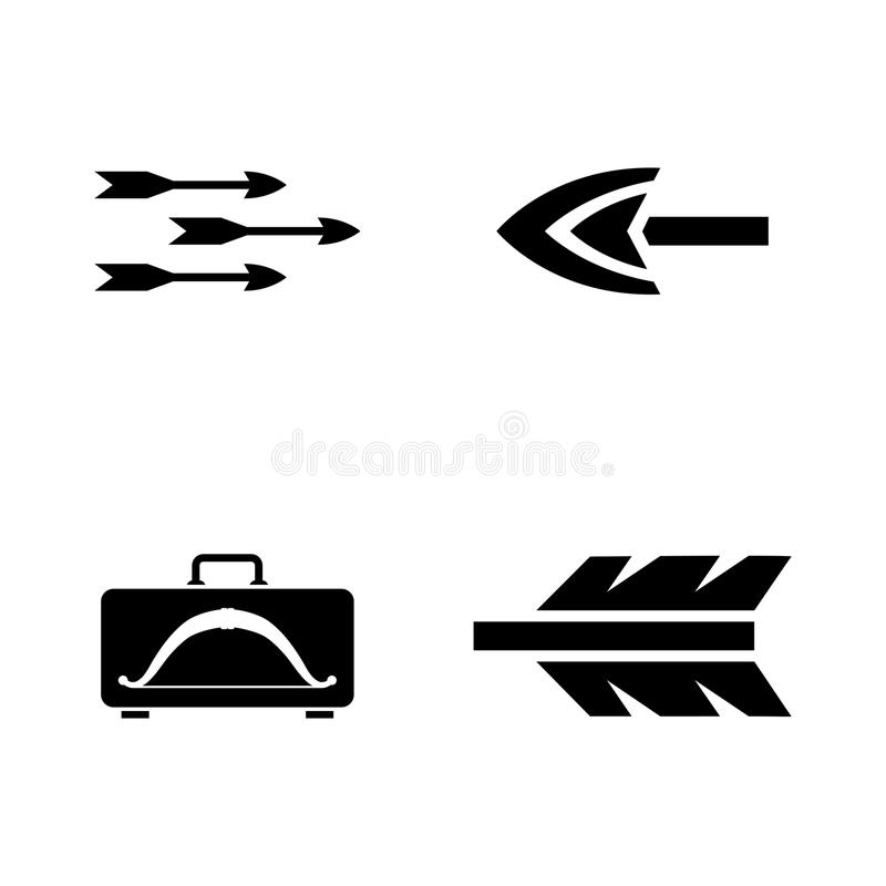 flechas Iconos relacionados simples del vector ilustración del vector