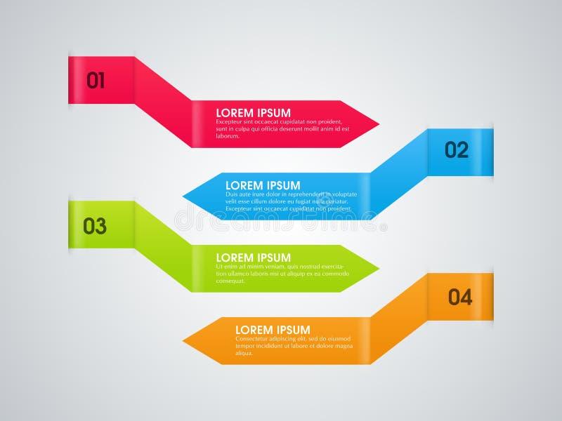 Flechas infographic coloridas para el negocio ilustración del vector