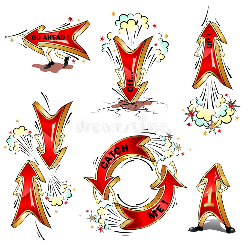 Flechas móviles de la historieta libre illustration