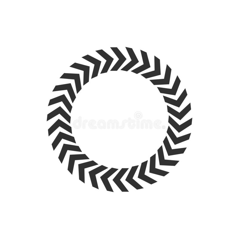 Flechas negras circulares, ejemplo del vector aislado en el fondo blanco libre illustration