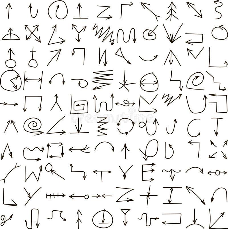 Flechas negras determinadas libre illustration