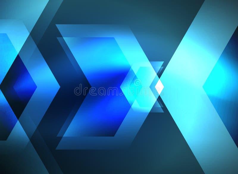 Flechas que brillan intensamente de la tecnología de Digitaces ilustración del vector