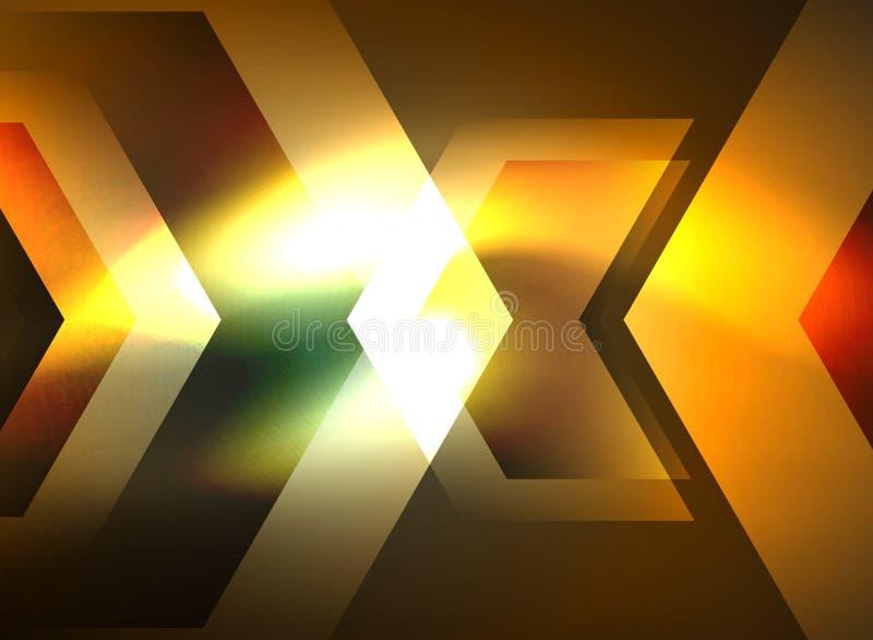 Flechas que brillan intensamente de la tecnología de Digitaces stock de ilustración
