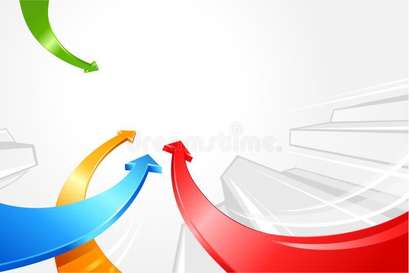 Flechas que se mueven hacia arriba ilustración del vector