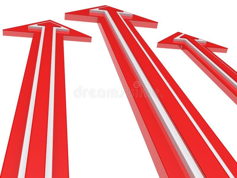 Flechas rojas stock de ilustración
