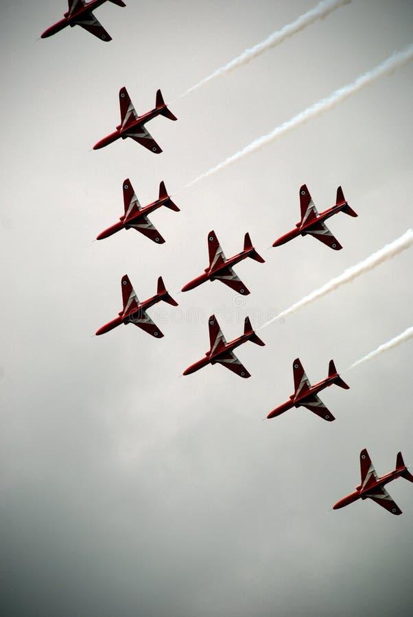 Flechas rojas 6 de Airshow imágenes de archivo libres de regalías