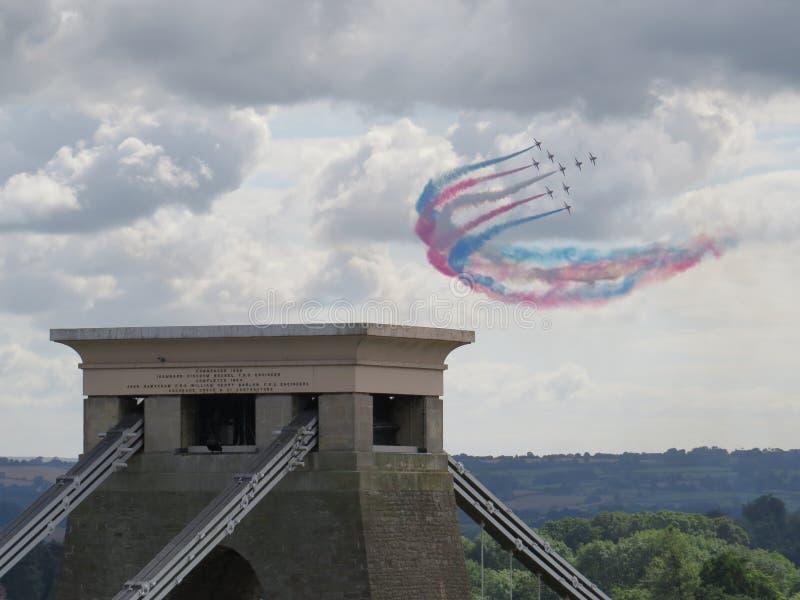 Flechas rojas sobre Bristol imagen de archivo