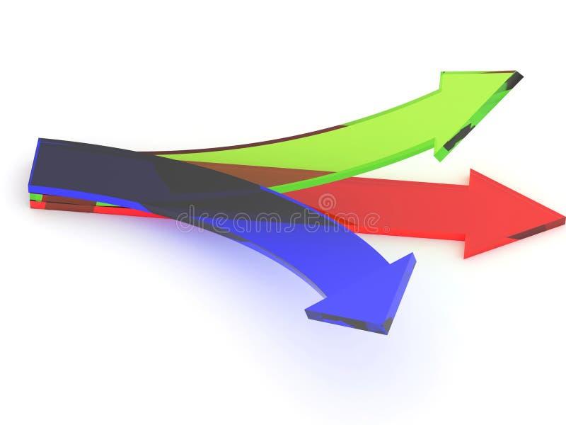Flechas transparentes libre illustration