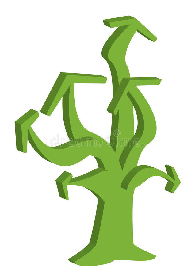 Flechas Tree_eps stock de ilustración