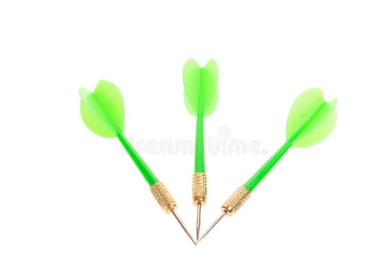 Flechas verdes del dardo imágenes de archivo libres de regalías
