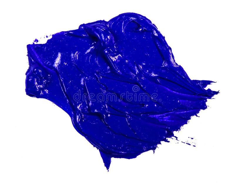 Fleck der blauen ?lfarbe auf einem wei?en lizenzfreie stockbilder