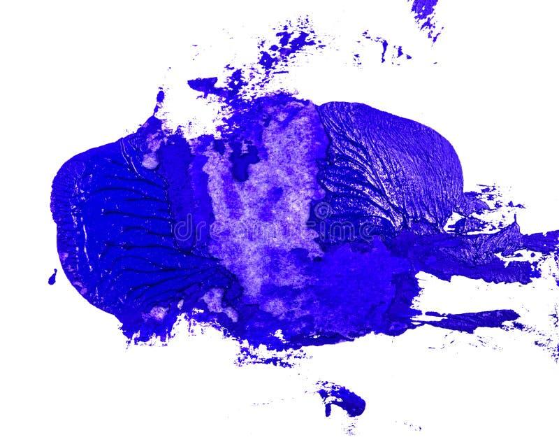 Fleck der blauen ?lfarbe auf einem wei?en lizenzfreies stockbild