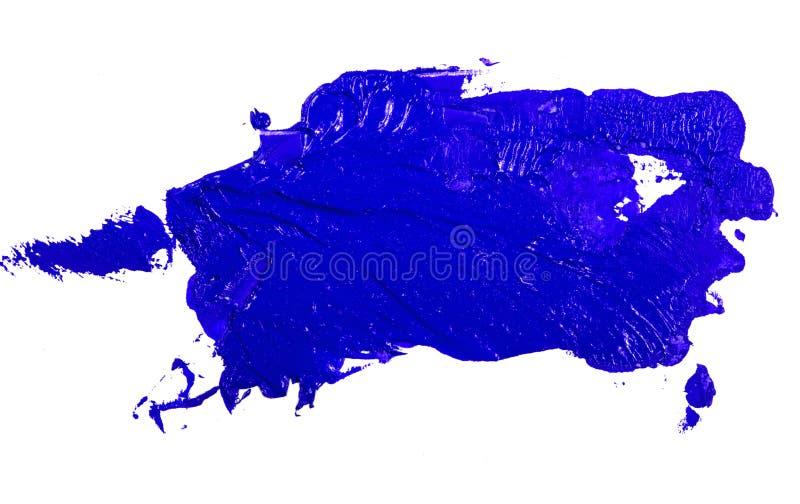 Fleck der blauen ?lfarbe auf einem wei?en lizenzfreie stockfotografie