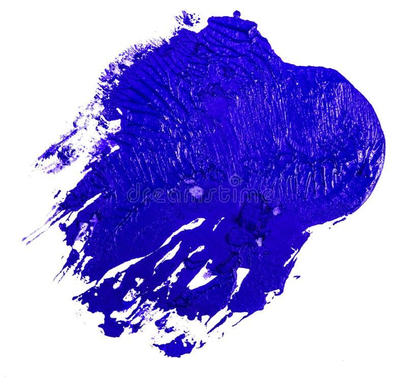 Fleck der blauen ?lfarbe auf einem wei?en lizenzfreies stockfoto